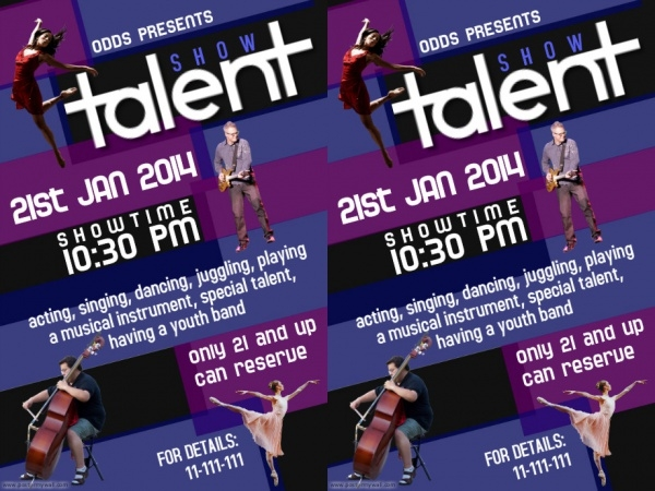 Best Editable Talent Show Flyer Template