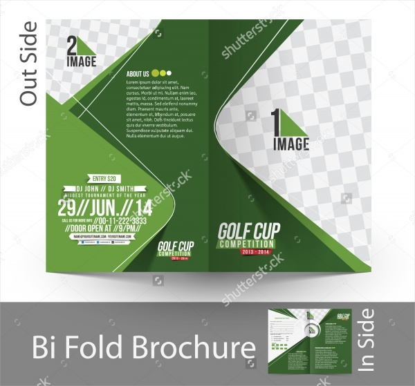 Golf Tournament Flyer Template Golf Instructor Course Brochure