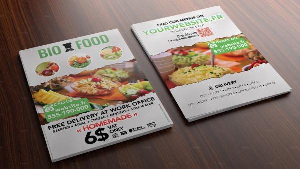 Bio Food Flyer for Caterer