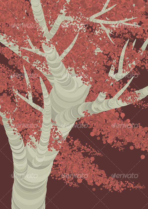 Birch Tree Illustration