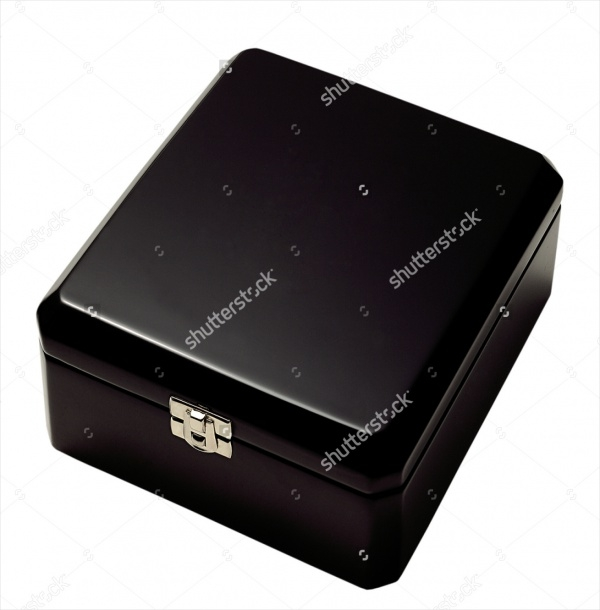 Black Gift Jewelry Box Isolated Packaging