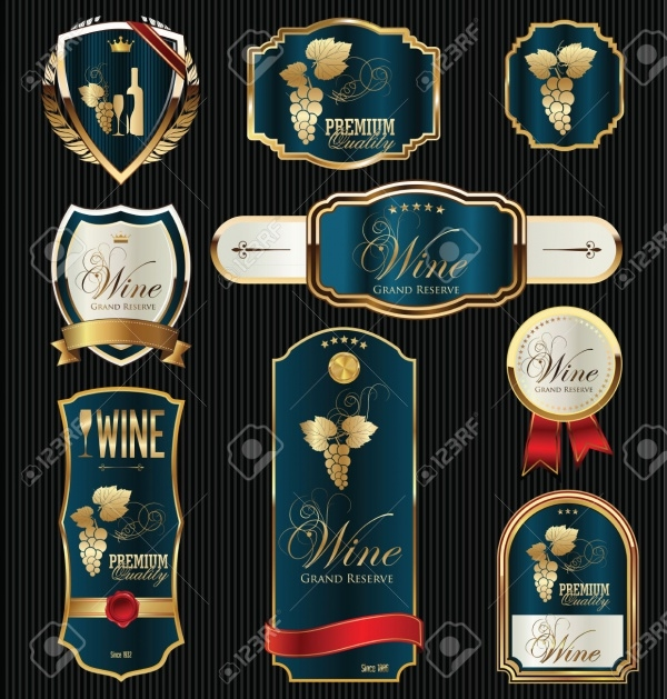 Black Gold Framed Product Labels