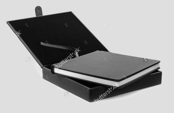 Black Leather Box Book Packaging