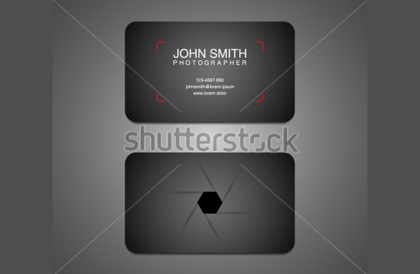 Black Photographer Business Card Template