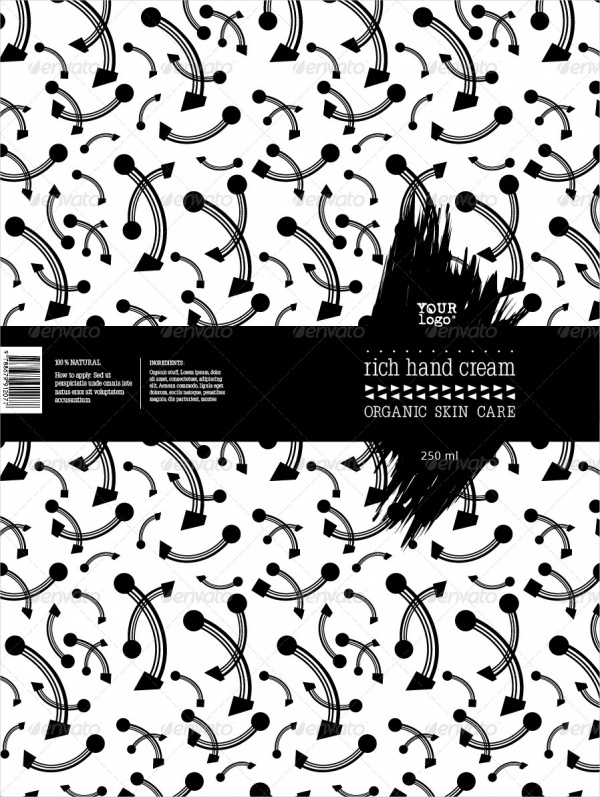 Black & White Cosmetic Package Label