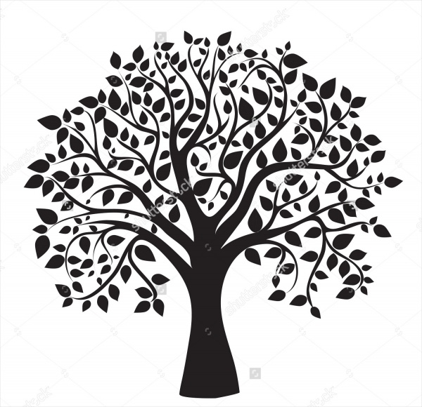Black & White Tree Illustration