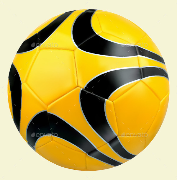Black and White Soccer Ball Vector