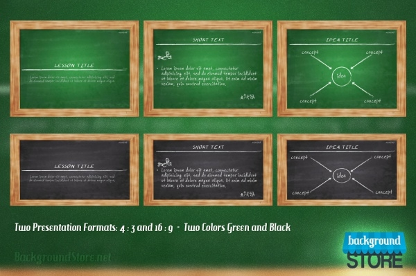 Blackboard PowerPoint Presentation Template
