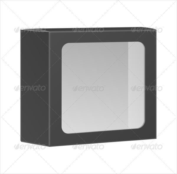 Blank Black Product Packaging Design