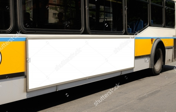Blank Bus Advertisement Design
