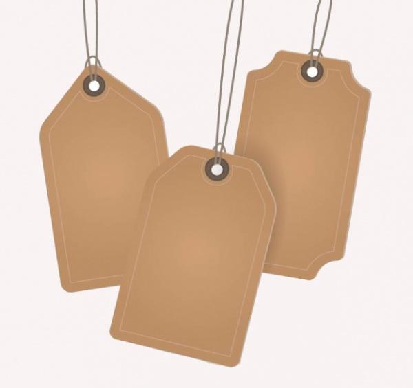 Blank Cardboard Tag Free Vector
