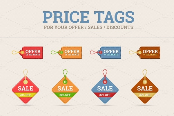 Blank Discount Tag Set