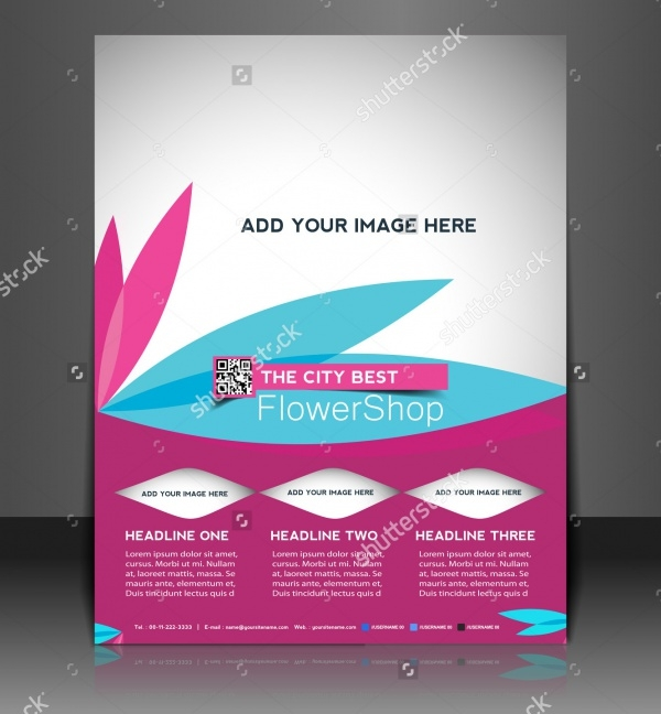 Florist Brochure Templates  Psd Vector Eps Jpg Download