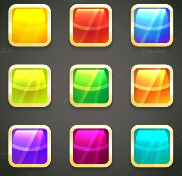 21+ Glossy Buttons - EPS, JPG, AI Illustrator Download