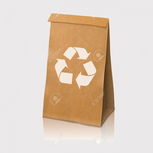 Blank Packaging Bag Vector