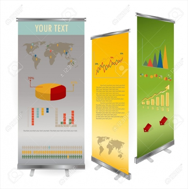 Blank Roll Up Banner Display Template