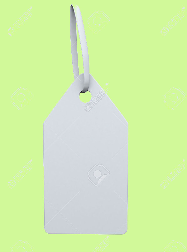 Blank White Swing Tag