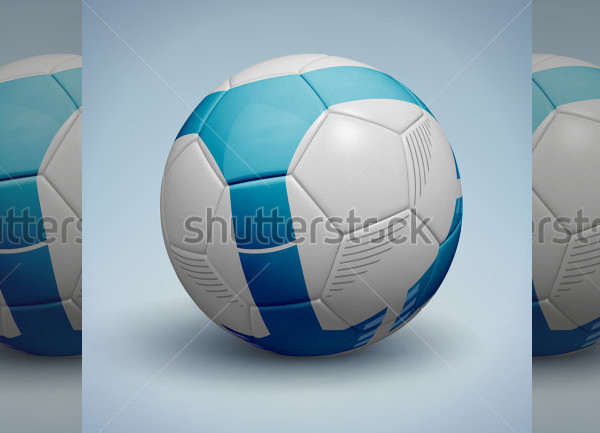 Blue Soccer Ball Vector