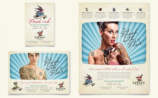 Body Art & Tattoo Artist Flyer & Ad