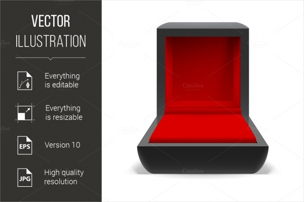 Box For Jewelry With a Red Interior