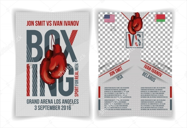 Boxing Battle Vector Flyer Invitation