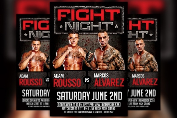 Boxing Match Flyer Design