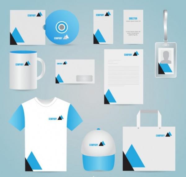 Branding Identity Corporate Vector