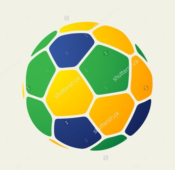 Brazil Soccer Ball Vector