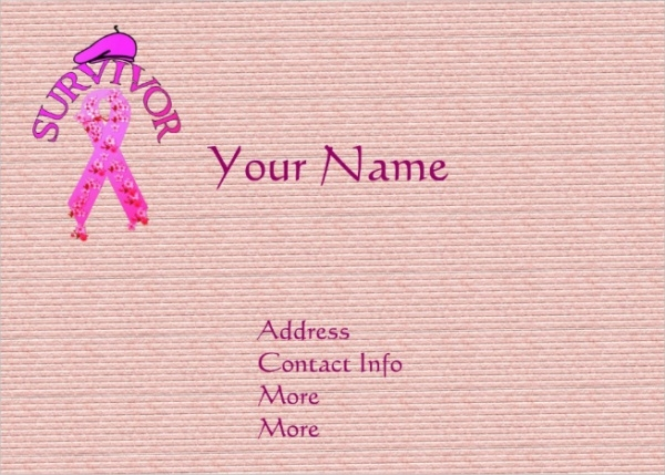 Breast Cancer Survivor Large Business Card