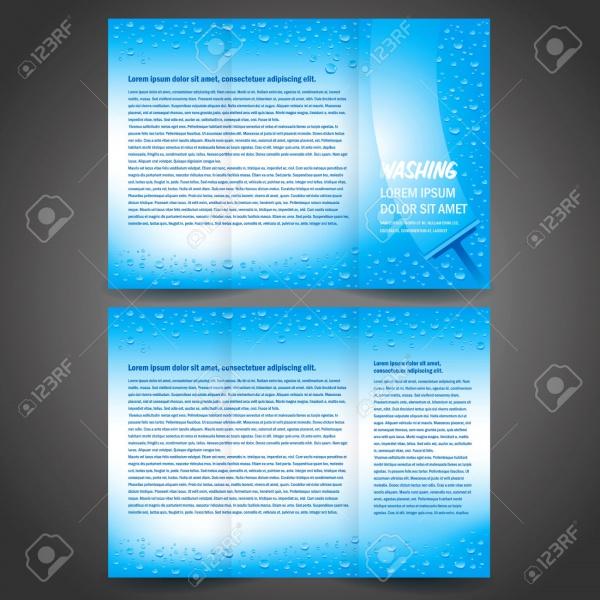 Brochure Folder Washing Design Template
