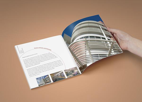 brochure for architecture company