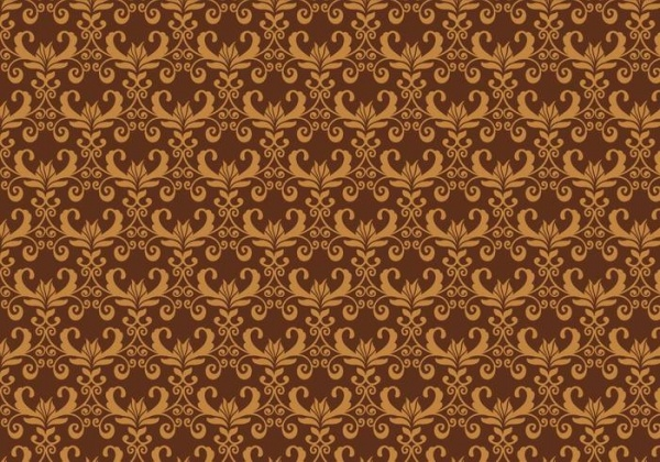 Brown Vector Western Flourish Pattern