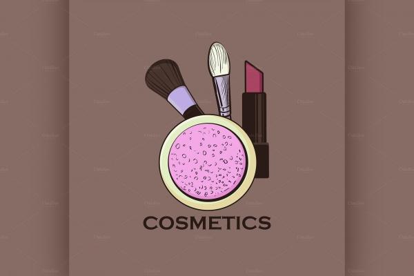 Brushes Cosmetics Label for Design