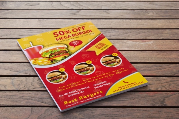 Burger Burn Flyer Design