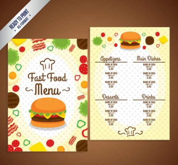Burger Promotion Fast Food Menu Template