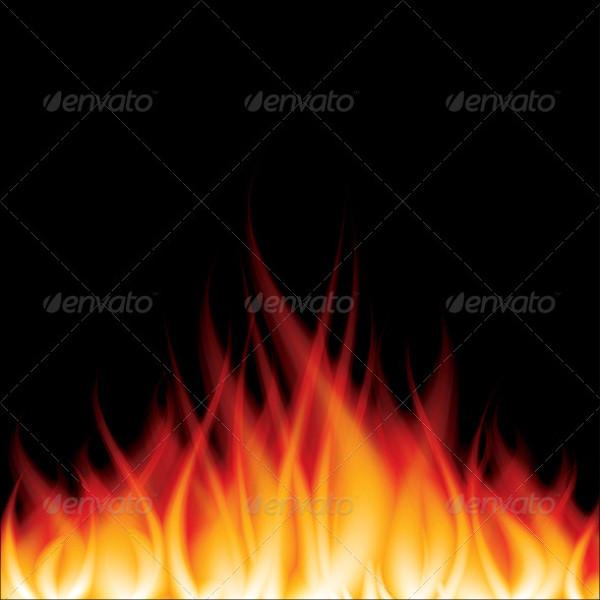 Burning Fire Flame Illustration