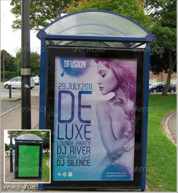Bus Shelter Poster Advertising Template