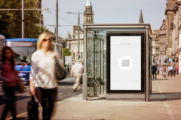 Bus Stand Advertising Billboard Template
