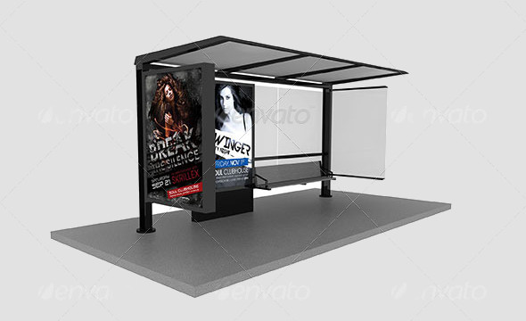 Bus Stop Ad Panel Advertising