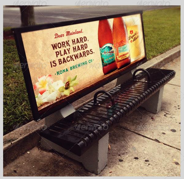 Bus Stop Bench Advertisement Template
