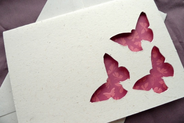 Butterfly Trio - Cut Out Card