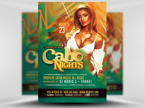 Cabo Nights Club Flyer Template