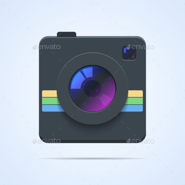 Camera Icon Illustration Isolated