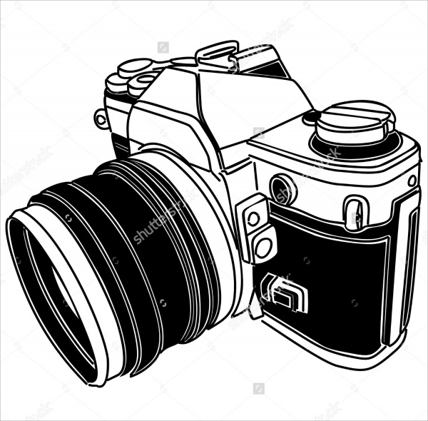 Camera Old Fashioned Vector Illustration