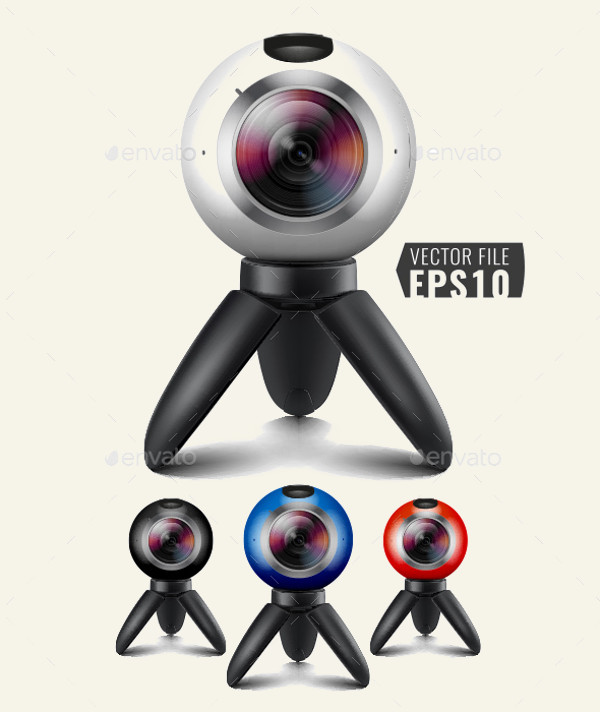 Camera Shutter Illustration
