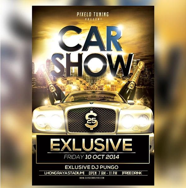 Free 24 Modern Car Show Flyer Designs In Ai Psd Indesign Ms Word Pages Publisher