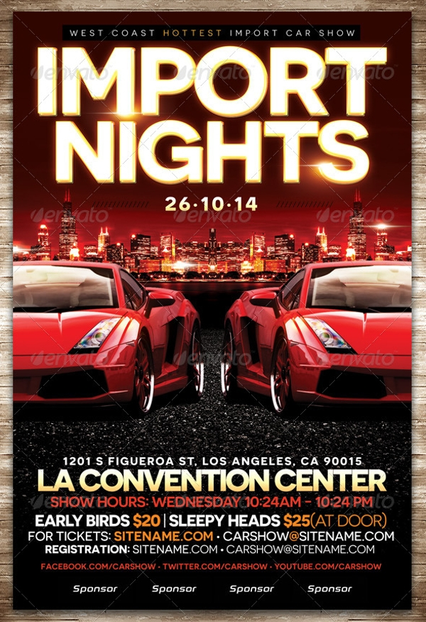 Car Show PSD Flyer Design