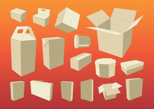 Cardboard Box Packaging Vector