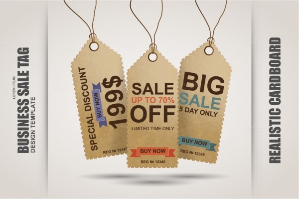 Cardboard Price Tag Design