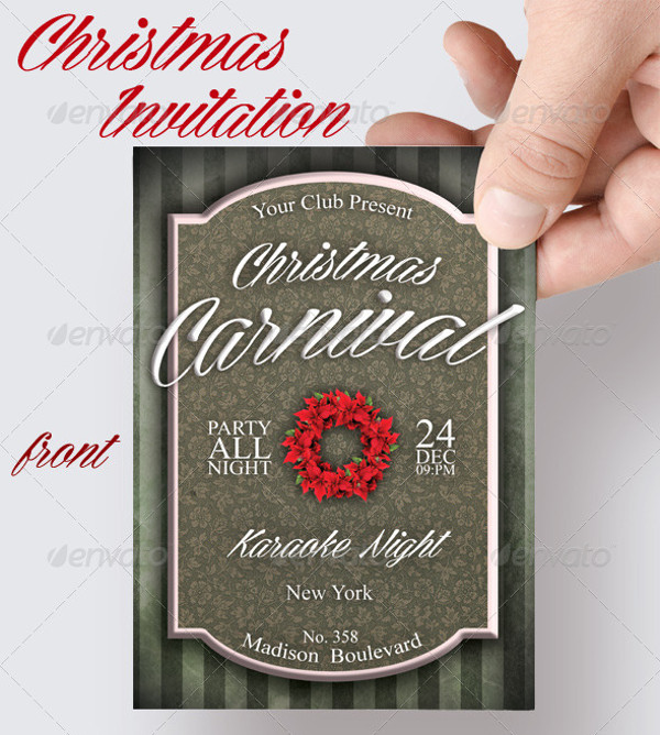 Carnival Christmas Invitation